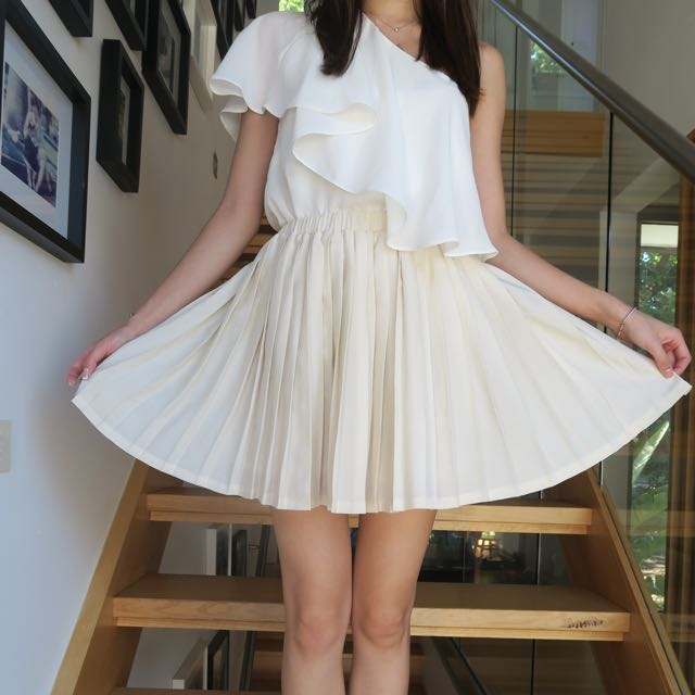 GENERAL PANTS Accordion Pleated Skirt XS