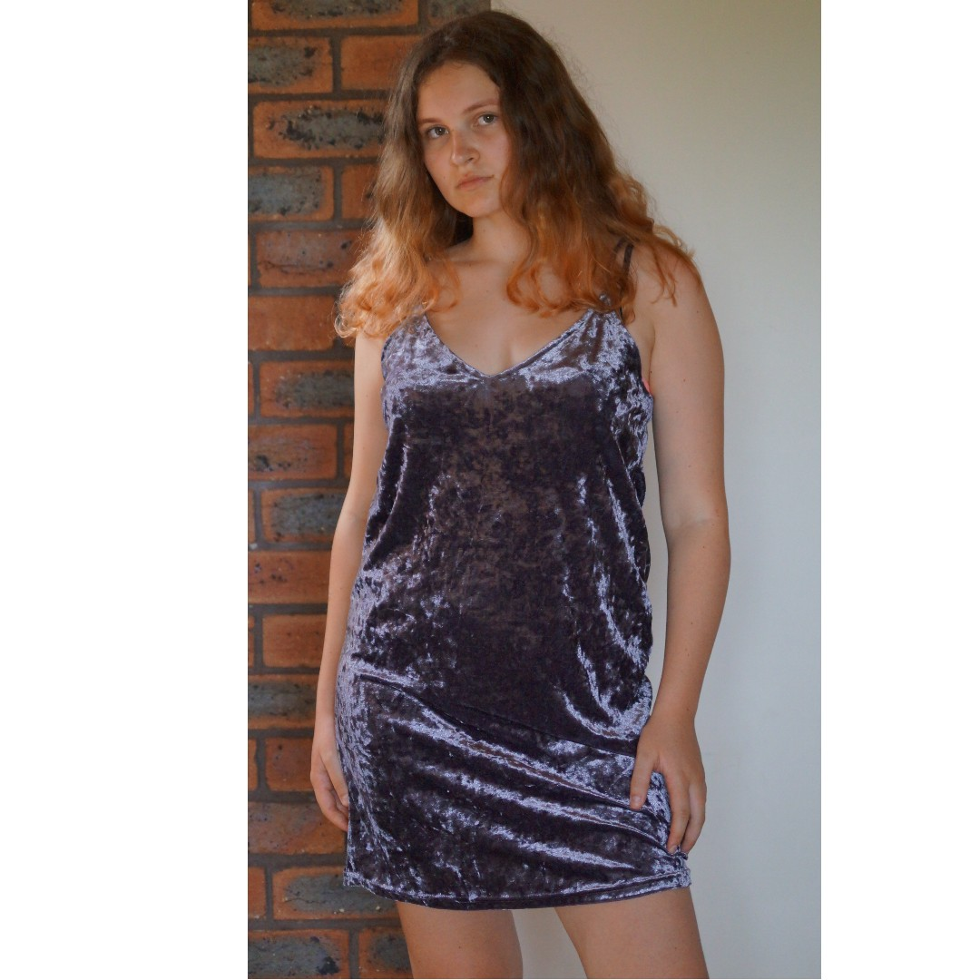 Glassons Velvet Purple Dress