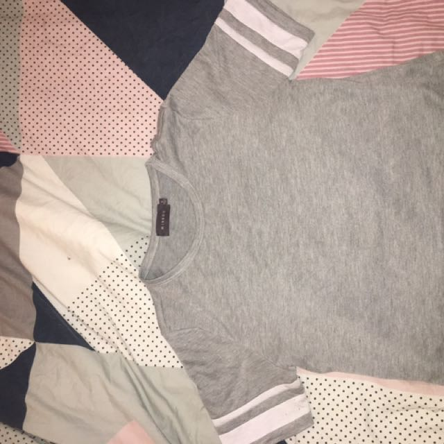 Grey size 8 crop top