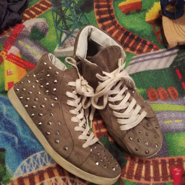 Grey spiked shoes size 7.5