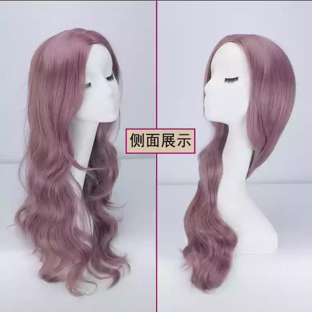 Hair wig purple