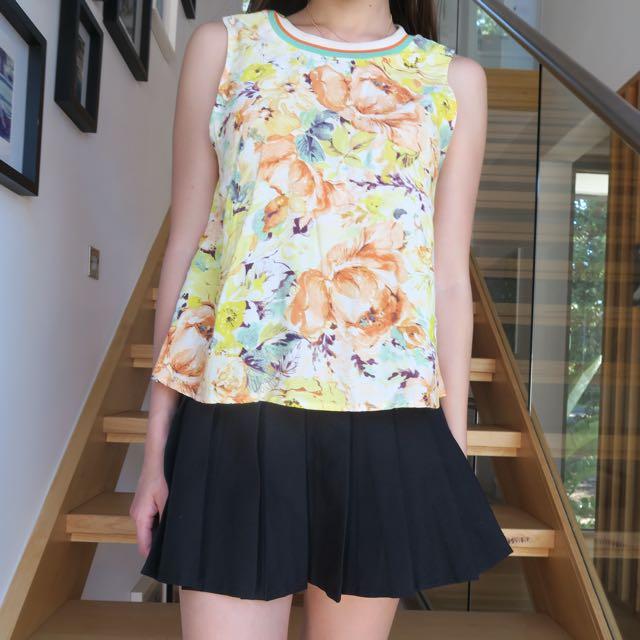 H&M Floral Top XS