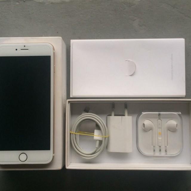 iPhone 6+ plus 64gb gold fullset
