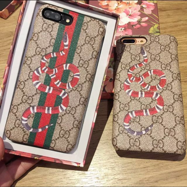 new arrival d3ec3 487e6 Iphone 8 plus Gucci case snake supreme with box