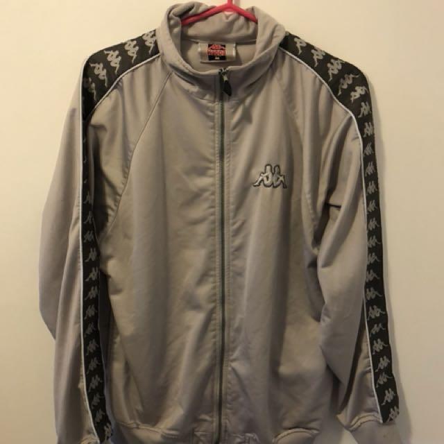 Kappa jacket! RARE gray colour on gray
