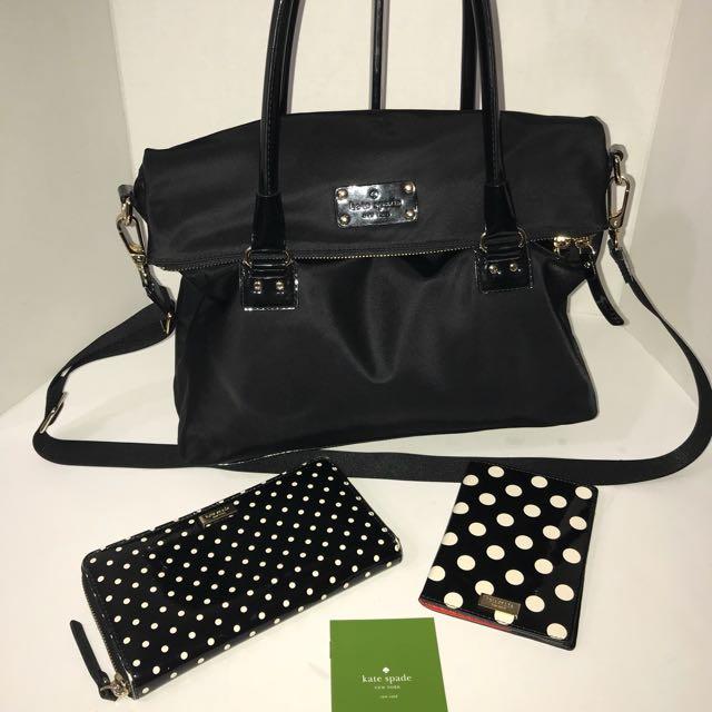 Kate Spade 2 Way Bag with Wallet & matching NWT Passport Holder