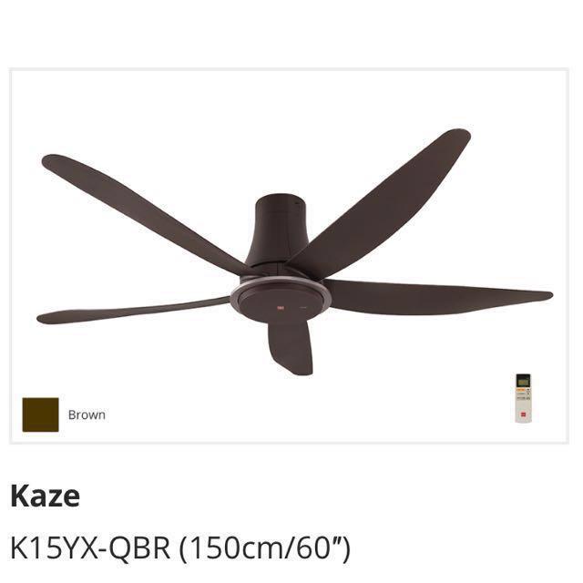 Kdk Ceiling Fan Kaze K15yx Qbr 150cm Furniture Others