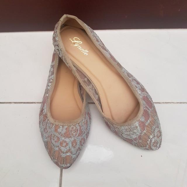 Lavender n Blue Lace Shoes