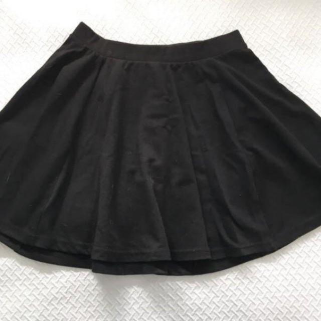 Little black cotton on skater skirt