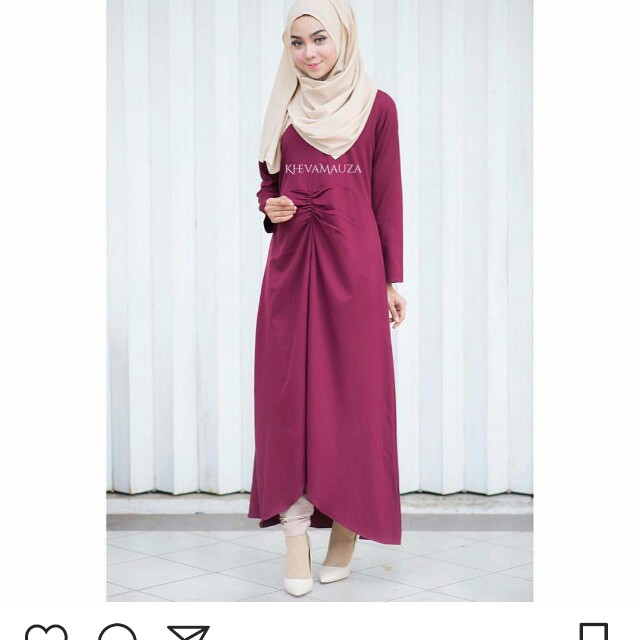 Long dress brown