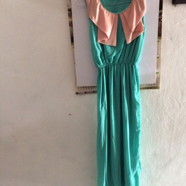 Long Dress Tosca Combination Peach