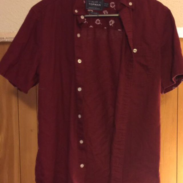 Maroon Button Up Shirt
