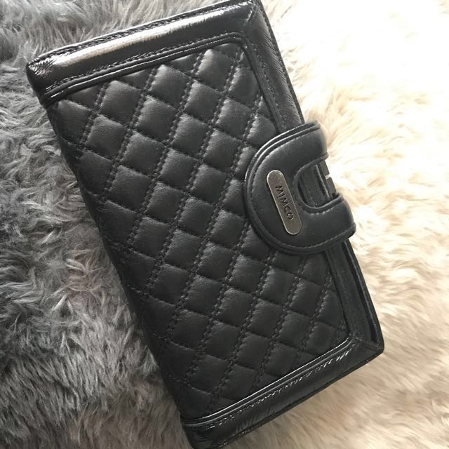 Mimco Quilted Travel Wallet - Black