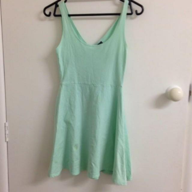 Mint green skater dress