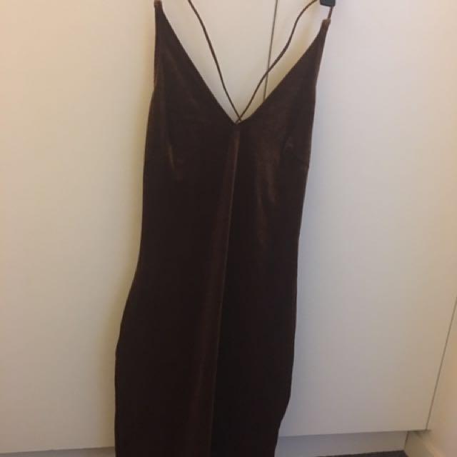 Morning Mist Brown Bodycon Dress 10