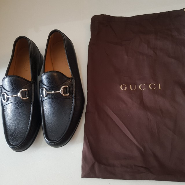 f45ae3b63 NEW Gucci Men Shoes (Leather), Men's Fashion, Footwear on Carousell