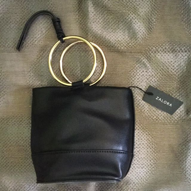 NEW Zalora Metal Handle Mini Bucket Bag