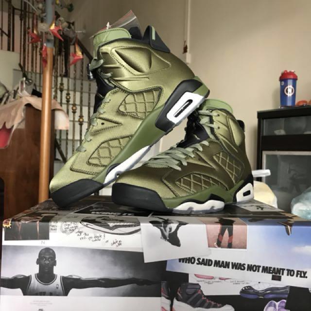 promo code ffe1e da3bc Nike Air Jordan 6 Retro Pinnacle (Palm Green   Black), Men s Fashion ...