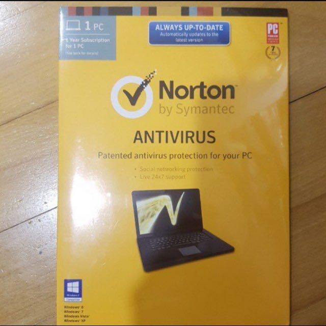 Norton Antivirus 1 year