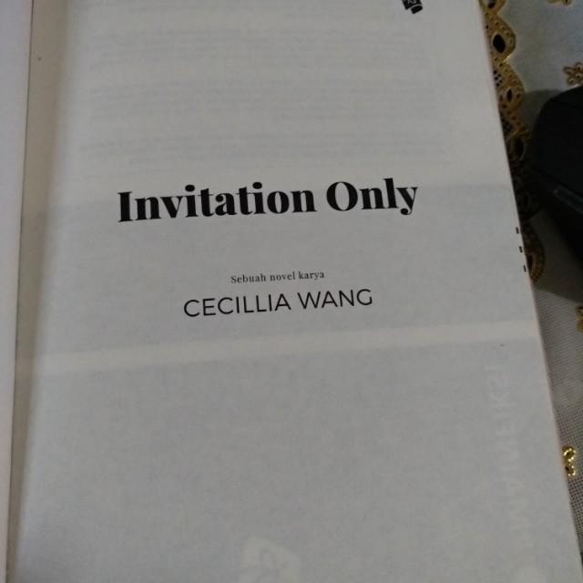 Novel invitation only pl cecilia wang buku alat tulis buku di novel invitation only pl cecilia wang buku alat tulis buku di carousell stopboris Choice Image