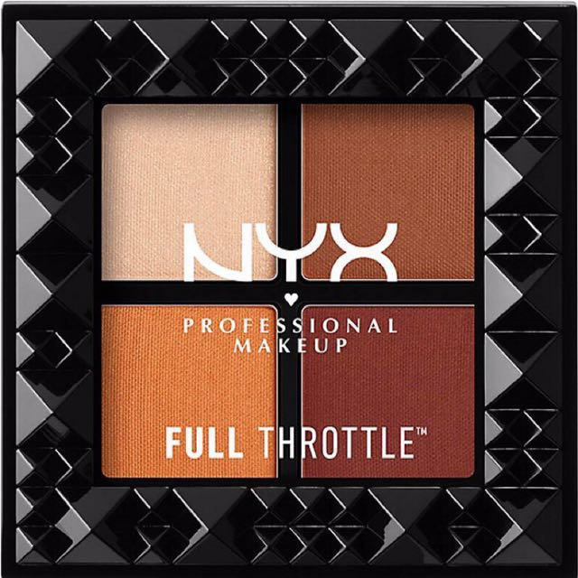 NYX💕四色眼影Full Throttle Shadow Palette/ colour riot