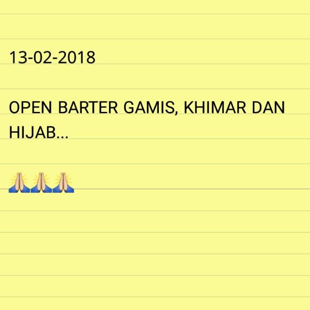 Open barter gamis, khimar/hijab