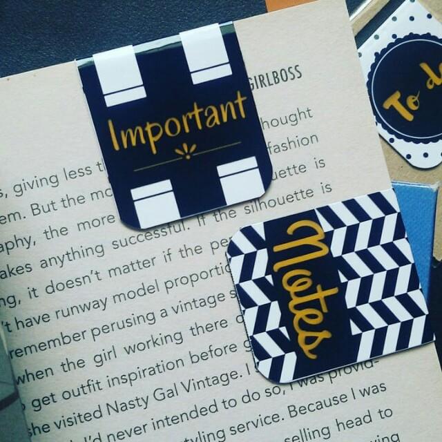 Planner magnetic bookmark