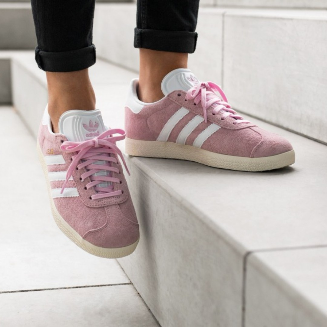 87cd0fdc7 ... reduced po adidas womens gazelle wonder pink womens fashion shoes on  carousell ff98a 7b43f