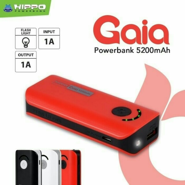 POWER BANK HIPPO GAIA 5200mAh SIMPLE PACK