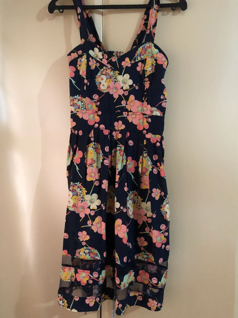 Preloved black floral dress