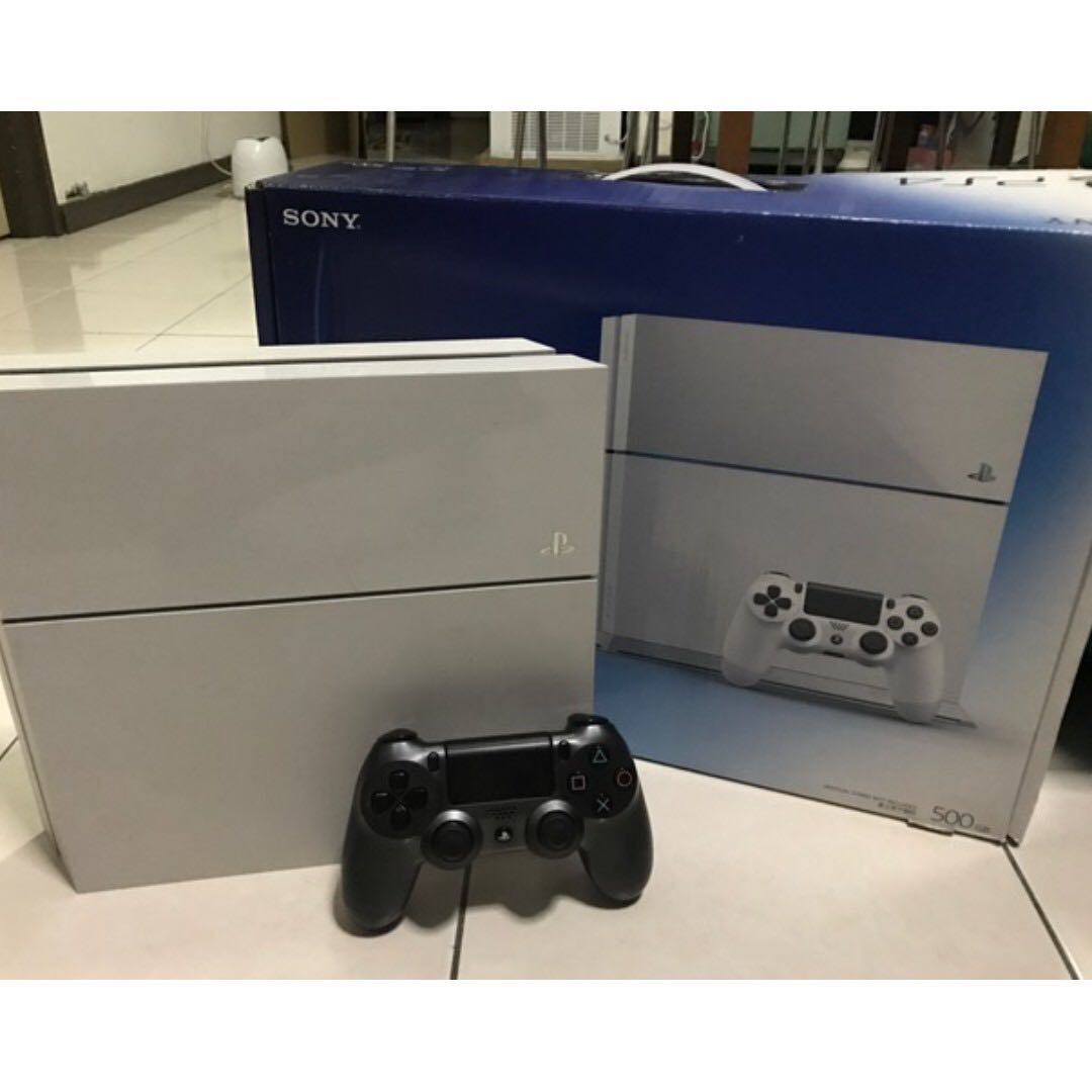 PS4 White 500GB with 9 Games