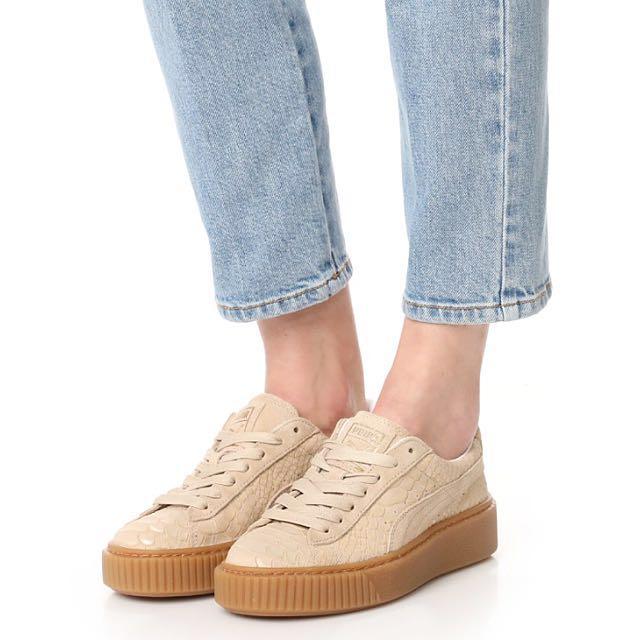 PUMA platform 麂皮蛇紋運動鞋