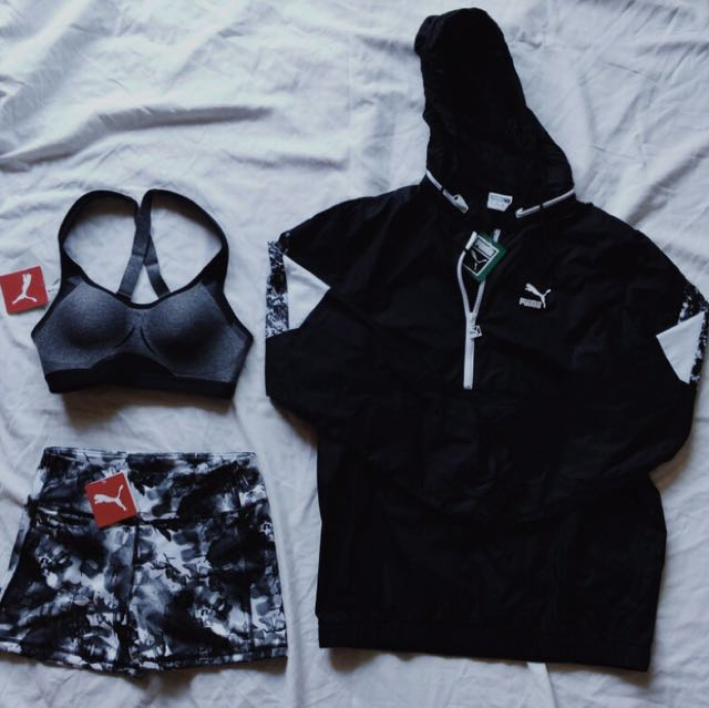 Puma windbreaker - sports bra - shorts