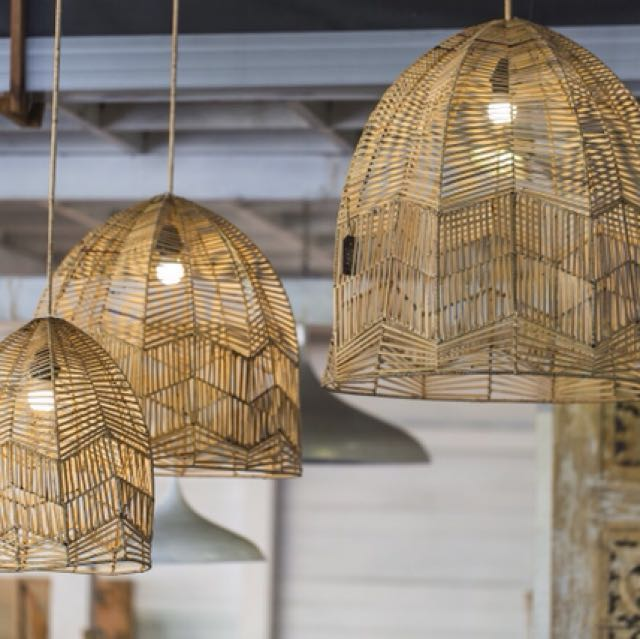 Rattan lamp shades now available furniture home decor on carousell photo photo aloadofball Choice Image