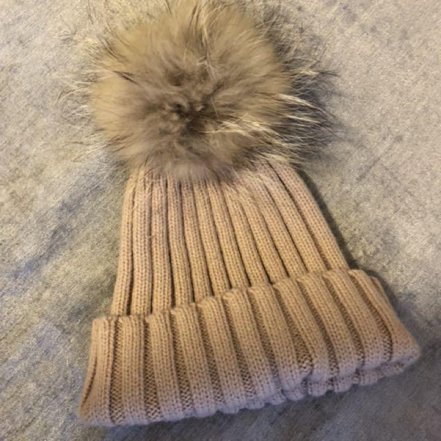 Real fur hat!