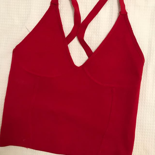 Red Zara top
