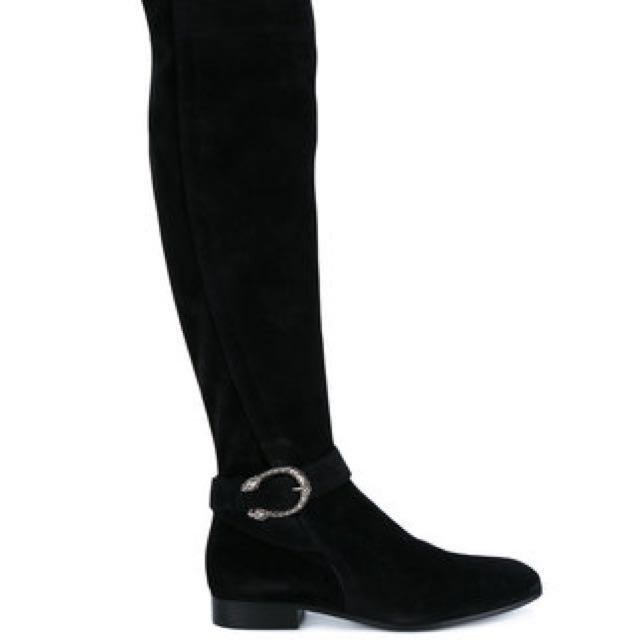 *reduced* Gucci Dionysus Suede Over-the-knee Boots (Size 36)