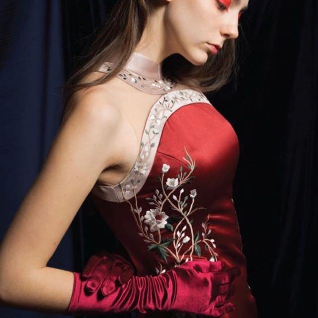 Ruby cheongsam / qipao dress