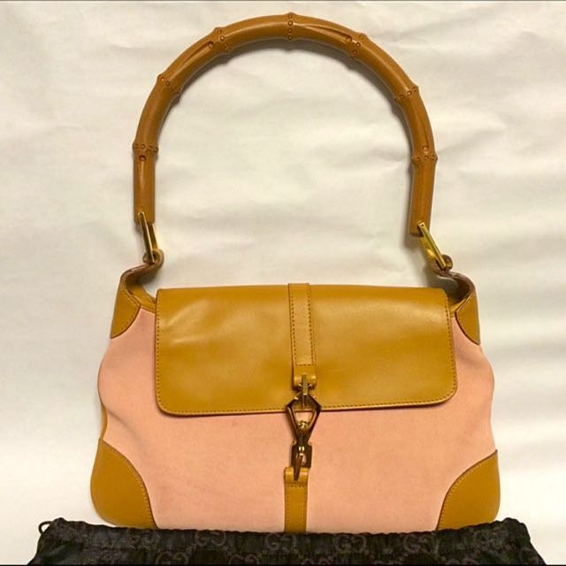 8982be7c17a SALE!! Vintage Gucci Bamboo Jackie Handle Bag
