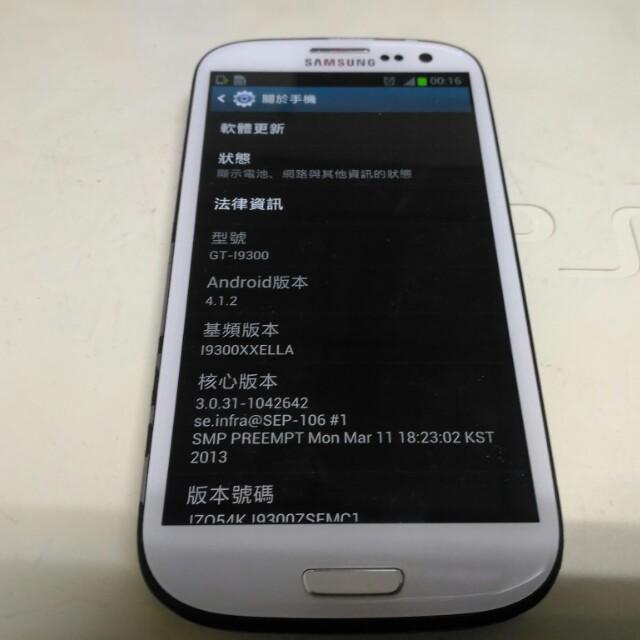 SAMSUNG GALAXY S III i9300 16GB 有注意事項