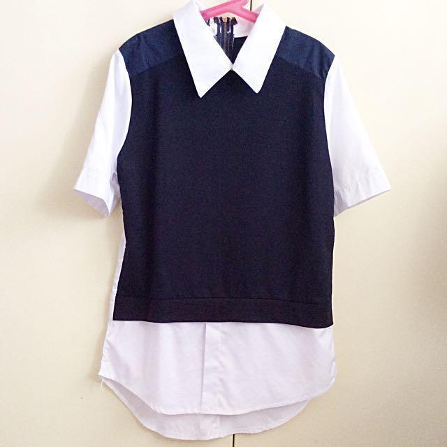 school uniform-style blouse