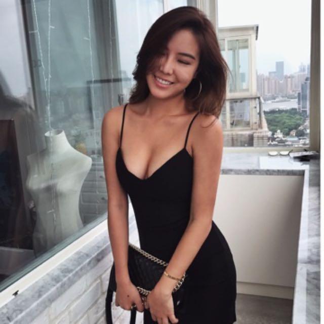 Scrapykoko 集中款細肩帶黑洋裝