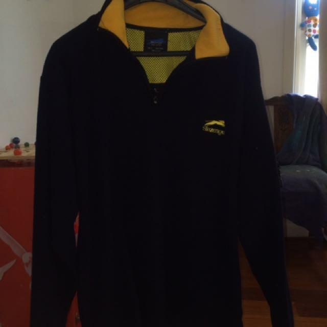 8710d76b0d2 Slazenger 1/2 zip blue navy jumper, Men's Fashion, Clothes on Carousell