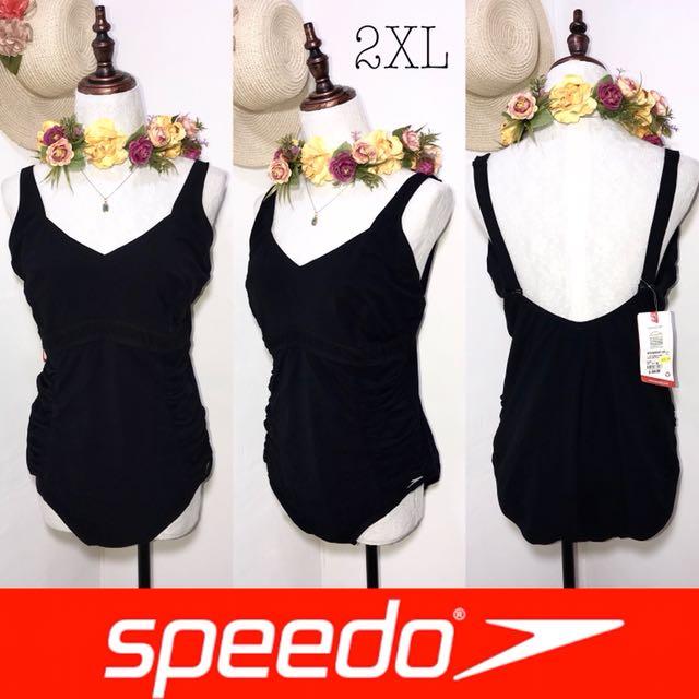 Speedo Plussize One Piece Black Swimsuit FO35
