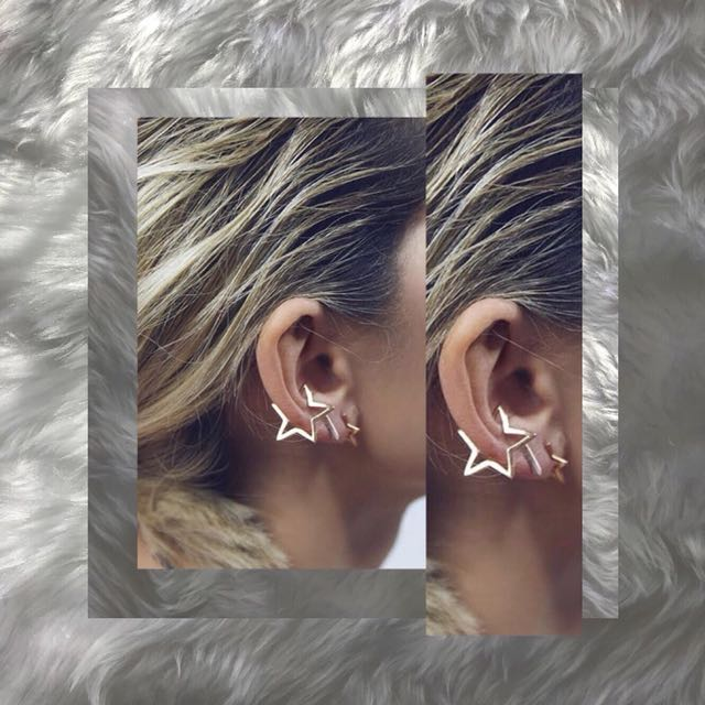 Star Outline Ear Cuff