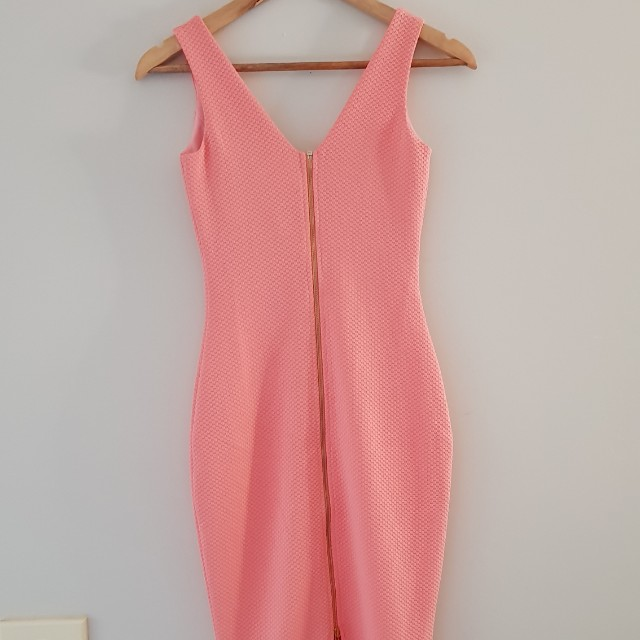 New Sunday's The Label coral midi dress