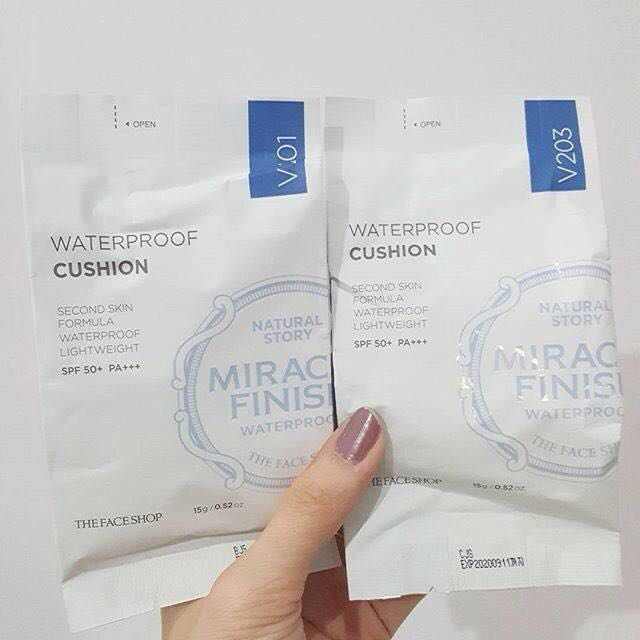 THE FACESHOP MIRACLE FINISH WATERPROOF CUSHION SPF50/PA++ REFILL