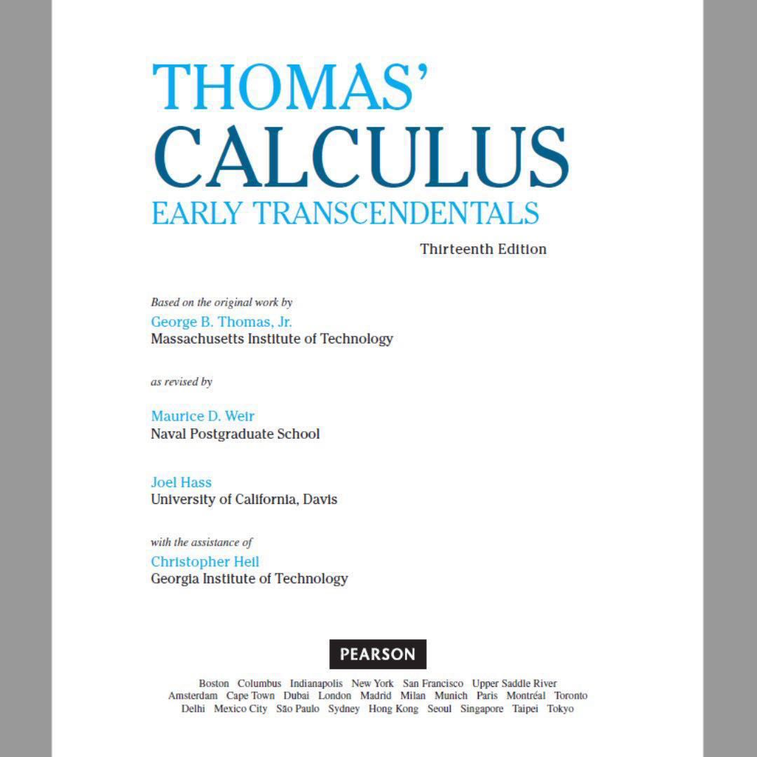 Thomas calculus early transcendentals 13th edition ebook books photo photo photo fandeluxe Choice Image