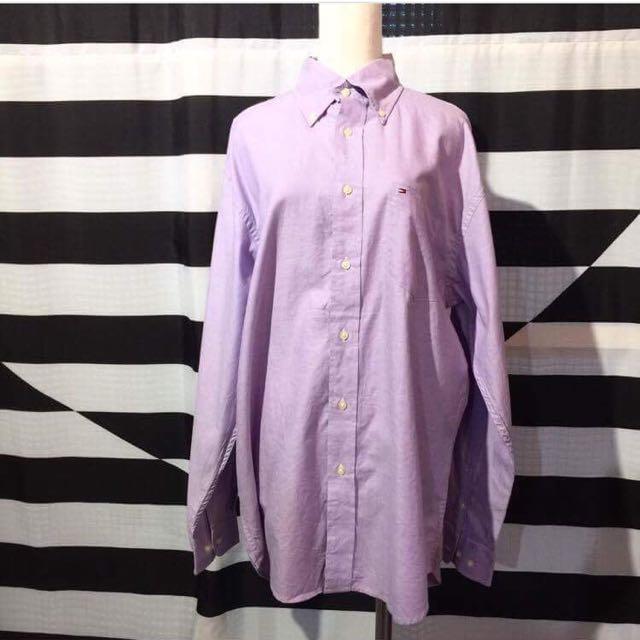 tommy hilfiger 淺紫色襯衫