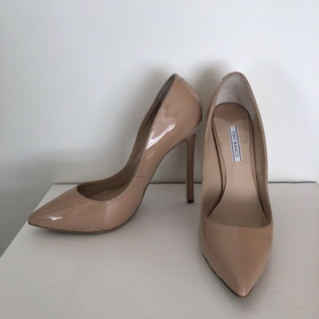 Tony Bianco nude patent leola heel
